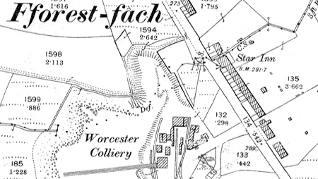 Worcester Colliery OS 1898 Map